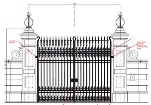 Tổng hợp quy trình thi công làm cửa cổng sắt