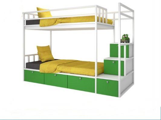 Giường sắt 2 tầng đẹp
